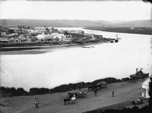 Part 4 of a 4 part panorama of Wanganui township and the Whanganui River