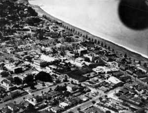 Aerial view of Napier after the 1931 earthquake