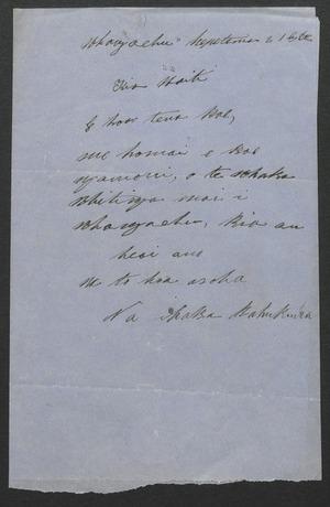 Letters in Maori