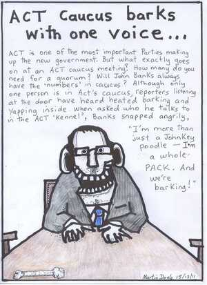 Doyle, Martin, 1956- :ACT caucus barks with one voice... 15 December 2011