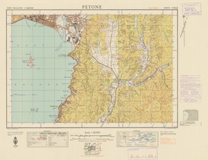 Petone [electronic resource] / [drawn by] W. Panton & W.N. Watson, 1946 ; prepared from official surveys and aerial photographs.