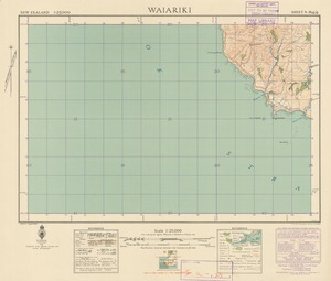 Waiariki [electronic resource] / [drawn by] M. Pirrit, August 1941 ; compiled from official surveys and aerial photographs.