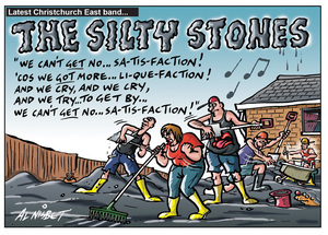 Nisbet, Alistair, 1958- :The Silty Stones - latest Christchurch East band... 27 December 2011