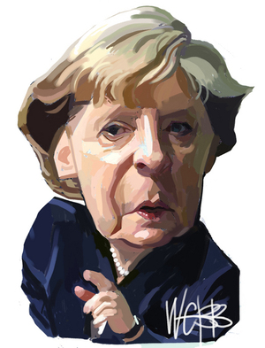 Webb, Murray, 1947- :[Angela Merkel]. 3 January 2012