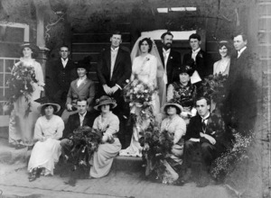 A wedding group including members of de Thier and Trolove families