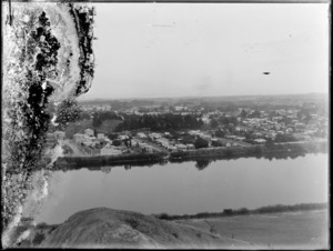 A view of Whanganui township and river