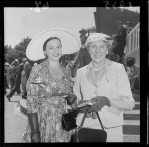 Two unidentified women at Trentham races, Upper Hutt