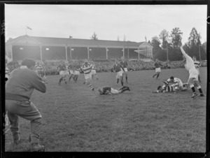 1956 Springbok rugby union football tour, Springboks versus Wairarapa-Bush at Masterton