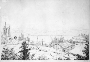 Smith, William Mein, 1799-1869 :From the Pah Pipitea, Port Nicholson, Decr 1840