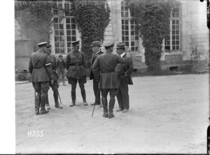 Prime Minister William Massey and Sir Joseph Ward in Oessy, France
