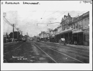 Manukau Road (later Broadway), Newmarket, Auckland