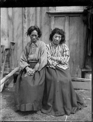 Two elderly Maori women