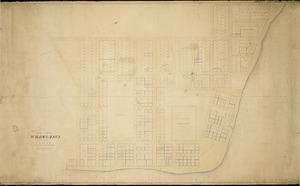 Swainson, George Frederick, 1829-1870 :Plan of the town of Whanganui; formerly named Petre [ms map]. [ca. 1855]