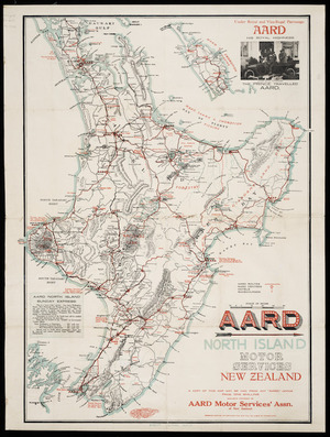 AARD North Island motor services, New Zealand [cartographic material] / AARD Motor Services Assn. of New Zealand.