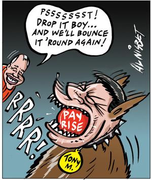 Nisbet, Alistair, 1958- :'Psssssssst! Drop it boy... and we'll bounce it 'round again!' 27 January 2012