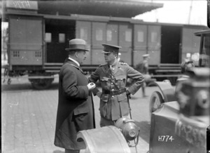 Joseph Ward at the port of arrival, Boulogne, France, World War I