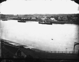 Part 1 of a 4 part panorama of Wanganui township and the Whanganui River