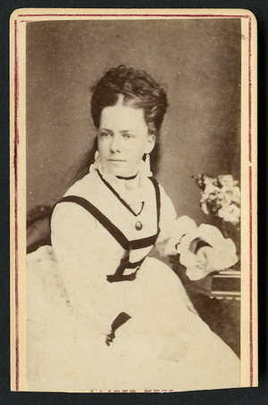 Clarke Brothers (Auckland) fl 1878: Portrait of Miss Marriner?