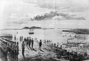 [Watkins, Kennett] 1847-1933 :The invasion of Auckland by the Ngatipaoa, April 17th, 1851; an incident in Sir George Grey's first Governorship. Wilson & Horton, lith. Auckland, Wilson & Horton, 1892.