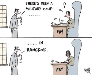 """There's been a military coup...........in Bangkok."" 21 September, 2006."