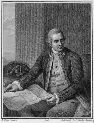 Holland, Nathaniel Dance (Sir) 1734-1811 :Captain James Cook [ca 1779] / N. Dance pinx.; sculpt apud J S Klauber Augusta. 1798