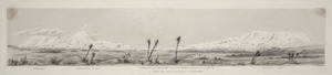 Stewart, John Tiffin, 1827-1913 :A group of New Zealand mountains, sketched from the Waimarino Plains 2600 ft above sea level (on central railway route), Sept 1887.