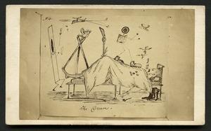 Cobb, J V fl 1860s : Photographic copy of cartoon 'No 4. The Dream'