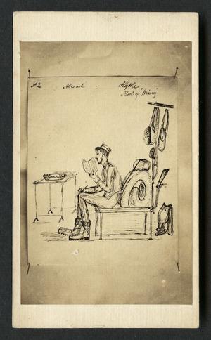 "Cobb, J V fl 1860s : Photographic copy of cartoon 'No 2. Abroad. Hythe School of ""Misery""'."