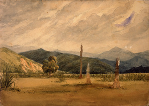 [Smith, William Mein] 1799-1869 :[Wairarapa district, towards the Tararuas. 1850s?]