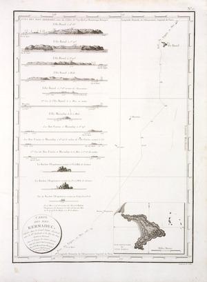 Beautemps-Beaupre, C. F. :Carte des iles Kermadec, situes dans le grand Ocean Austral, entre la Nouvelle Zelande et les Isles des Amis. Levee et dressee dans le voyage du Contre-Amiral Bruny Dentrecasteaux par C. F. Beautemps-Beaupre, Ingenieur-Hydrographe, en 1793 (An 1er). [Paris, 1807]