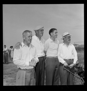 Professional golf, four unnamed players