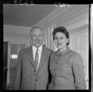 Mr Francis H Russell, American Ambassador designate, with Mrs Russell
