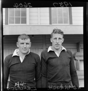 L Erleson and R Darragh, 1957 New Zealand All Black rugby union trialists