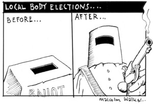 LOCAL BODY ELECTIONS... Before... After... Bay News, 23 August 2007