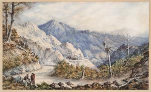 Barraud, Charles Decimus, 1822-1897 :Road over the Rimutakas. 1869.