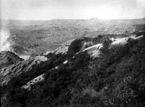 Kaingaroa Plain and mud covered ridges from the 1886 Tarawera eruption