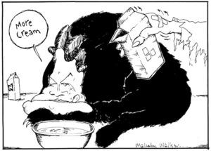"""More cream"" Sunday News, 14 October 2005"