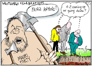 "WAITANGI CELEBRATIONS.. ""Hangi anyone?"" Sunday News, 3 February 2006"