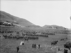 Review of the 2nd Contingent for the South African War at Island Bay, Wellington