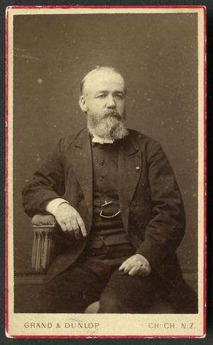 Grand & Dunlop (Christchurch) fl 1878 :Portrait of Rev S Macfarlane