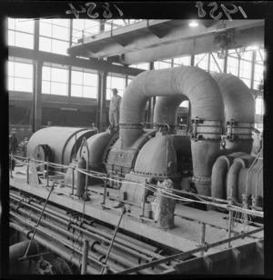 Steam turbine generator at the Mercer Power Station, Waikato River
