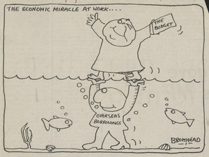 Bromhead, Peter, 1933- :The economic miracle at work.... Auckland Star, 2 June 1978