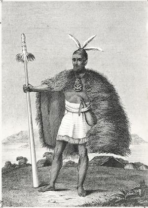 [Nicholas, John Liddiard] 1784-1868 :A chief of New Zealand. Neele sculp. Strand. [London, James Black, 1817]