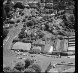 Industrial buildings and houses, Parnell, Auckland