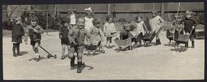 Children at the Wellington Free Kindergarten, Taranaki Street, Wellington - Photograph taken by Robson and Boyer
