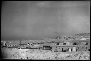 Maadi Camp looking towards the Citadel, Cairo, with Shaft's Cinema in the foreground, Egypt, World War II - Photograph taken by George Bull