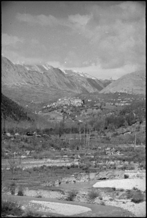 Village among the mountains in the Volturno Valley, Italy - Photograph taken by George Kaye