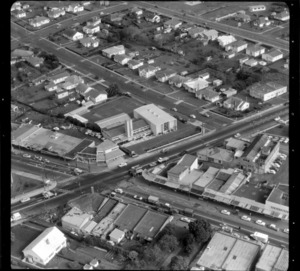 Mount Roskill, Auckland, including the intersection of Dominion and Mount Albert Roads