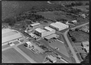 Avondale, Auckland, showing factories of AC Hatrick New Zealand Ltd, and Morcom Green and Edwards Ltd