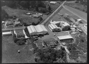 Avondale, Auckland, showing factories of AC Hatrick New Zealand Ltd, and Morcom Green and Edwards Ltd.